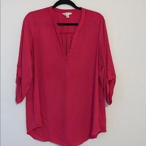 Decree hot pink blouse